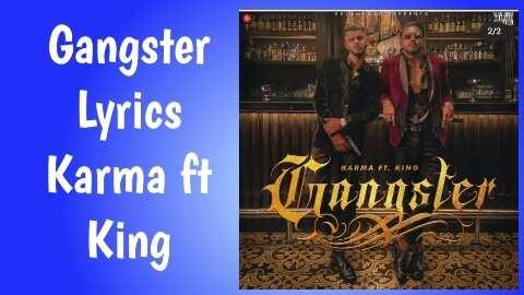 king gangster lyrics karma